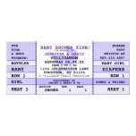 Baby Shower Purple Concert Ticket Invitation