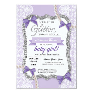 Purple Baby Shower Invitations Announcements Zazzle