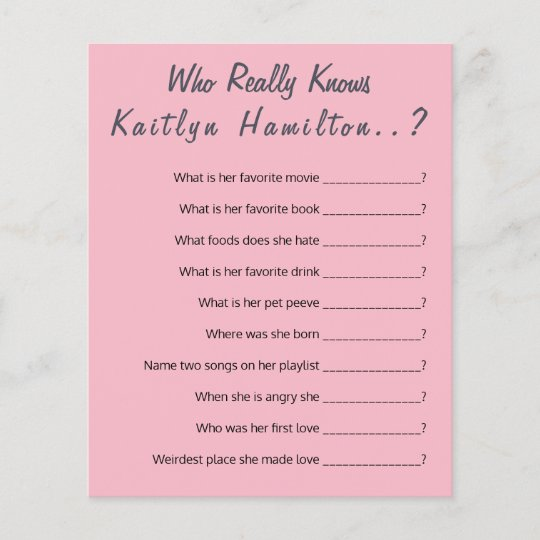 Baby Shower Question Game New Mother Humor Zazzle Com