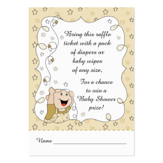 Baby Shower Raffle Ticket/Gold Stars Baby Large Business Card