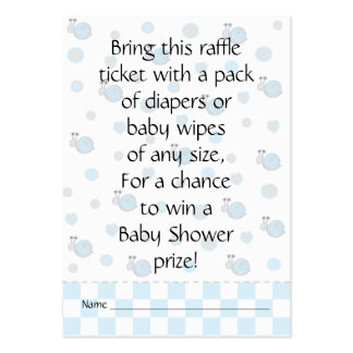 Baby Shower Raffle Ticket/Snips and Snails Large Business Card