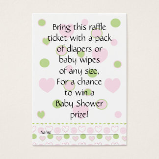 Baby Shower Raffle Ticket/Sugar and Spice Business Card