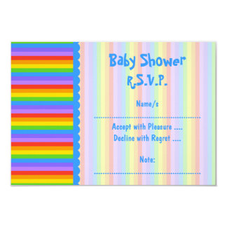Baby Shower, Rainbow Stripes Pattern. Card