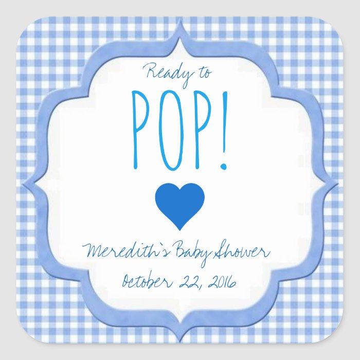 baby shower ready to pop stickers for boy zazzle