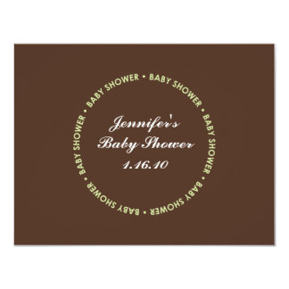 Baby Shower Registry Card - Brown and Green