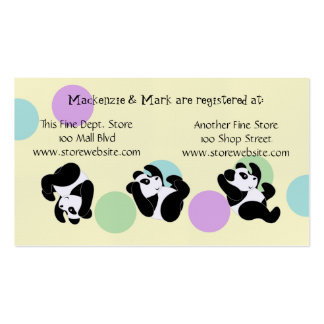 Baby Shower Registry Card Double-Sided Standard Business Cards (Pack Of 100)