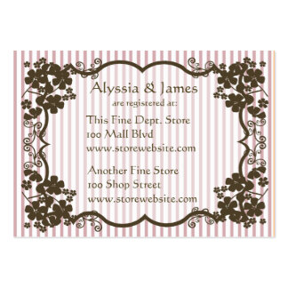 Baby Shower Registry Card Large Business Cards (Pack Of 100)