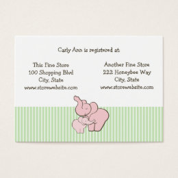 baby store business cards templates zazzle. Black Bedroom Furniture Sets. Home Design Ideas