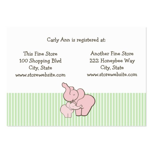 baby shower registry cards template free