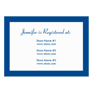 Baby Shower Registry Card with Date - Blue Large Business Card