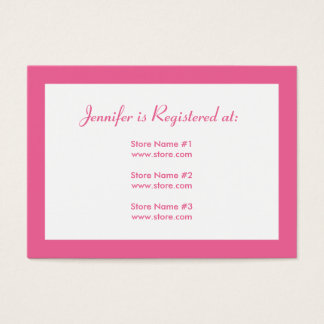 Baby Shower Registry Card with Date - Pink Dots