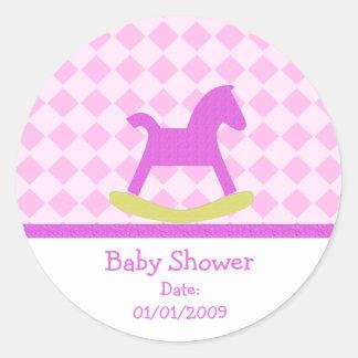 Baby Shower Rocking Horse Stickers