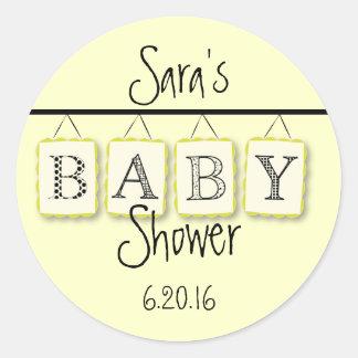 Baby Shower Round Sticker Stickers