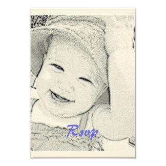 Baby Shower Rsvp blue print Card