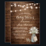 "Baby Shower Rustic Baby&#39;s Breath Floral Mason Jar Invitation<br><div class=""desc"">Baby Shower Rustic Baby&#39;s Breath Floral Mason Jar Invitation. (1) For further customization, please click the &quot;customize further&quot; link and use our design tool to modify this template. (2) If you prefer Thicker papers / Matte Finish, you may consider to choose the Matte Paper Type. (3) If you need help...</div>"