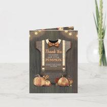 Baby Shower Rustic Fall Pumpkin Thank You