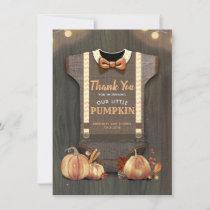 Baby Shower Rustic Fall Pumpkins Cute Thank You