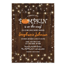 Baby Shower Rustic Little Pumpkin Invite