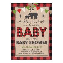 Baby Shower Rustic Lumberjack Outdoor Invitation