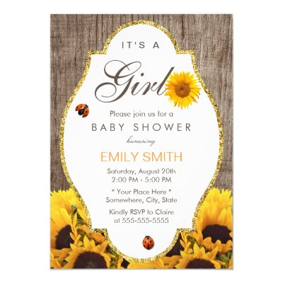 sunflower baby shower invitation - yellow & brown | zazzle, Baby shower invitations