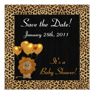 Baby Shower Save the Date Cheetah Print Card