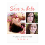 Baby Shower Save the Date Postcards Custom Photo