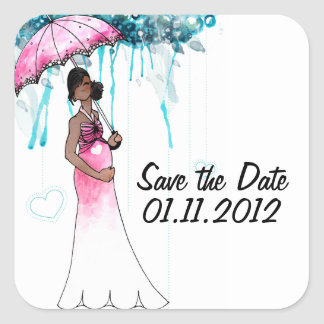 Baby Shower Save The Date Stickers