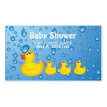 Baby Shower Save the Date Yellow Duckie Double-Sided Standard Business Cards (Pack Of 100)
