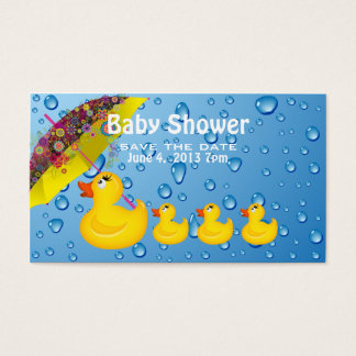 Baby Shower Save the Date Yellow Duckie Business Card