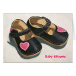 BABY SHOWER, SHOES WITH HEARTS GREETING CARD