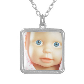 Baby shower silver plated necklace