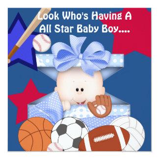 BABY SHOWER SPORTS INVITATION FOR BOY