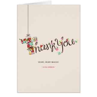 Baby Shower Spring Flowers T Thank You Note Card