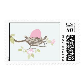 Baby Shower Stamp - Pink Egg