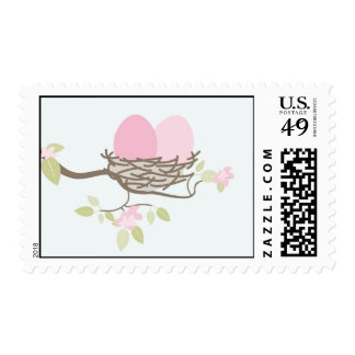 Baby Shower Stamp - Twin Eggs