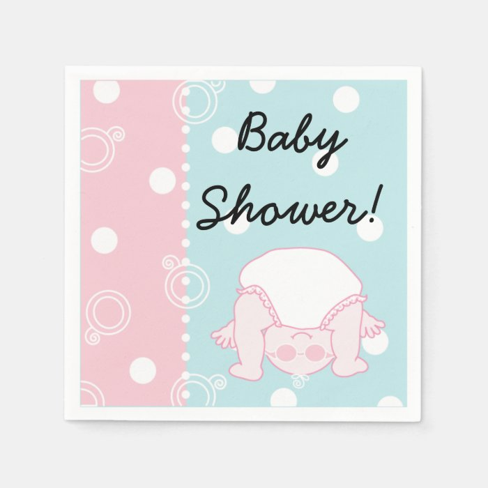 baby shower standard cocktail napkin baby zazzle