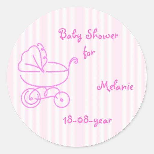 baby shower sticker zazzle