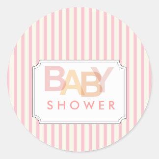 baby shower round stickers