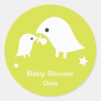 Baby Shower Sticker -Birdie in Green