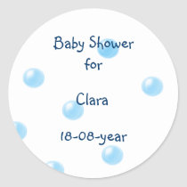 Baby Shower sticker bubbles