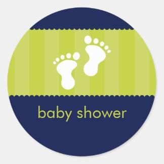 BABY SHOWER STICKER :: happy feet 12