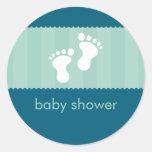BABY SHOWER STICKER :: happy feet 9