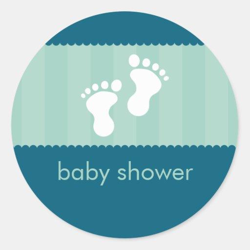baby shower sticker happy feet 9 zazzle