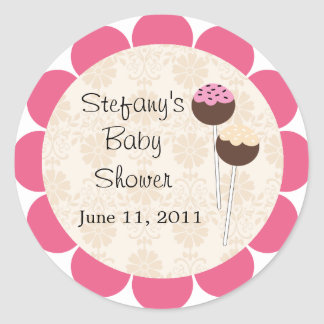 Baby Shower Stickers Cake Pops