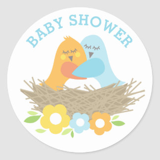 Baby Shower Stickers | Nesting Love Birds
