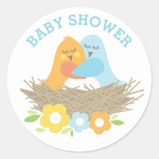 Baby Shower Stickers | Nesting Love Birds