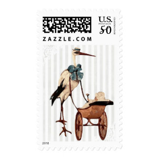Baby Shower Stork Carriage Postage