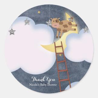 Baby Shower Storybook Nursery Rhyme Custom Favor Classic Round Sticker