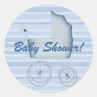Baby Shower Stripes Buggy Sticker