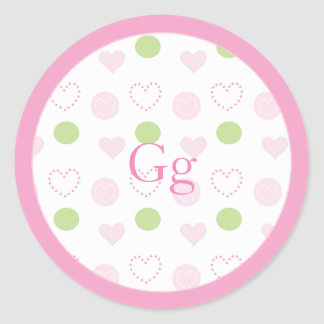 "Baby Shower ""Sugar & Spice"" Stickers 1 1/2"" or 3"""